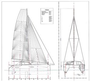 Segelplan Outremer 45