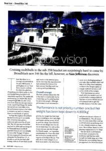 Link zum Bericht über Broadblue 346 in Sailing Today