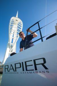 Broadblue Catamarans production director Mark Jarvis