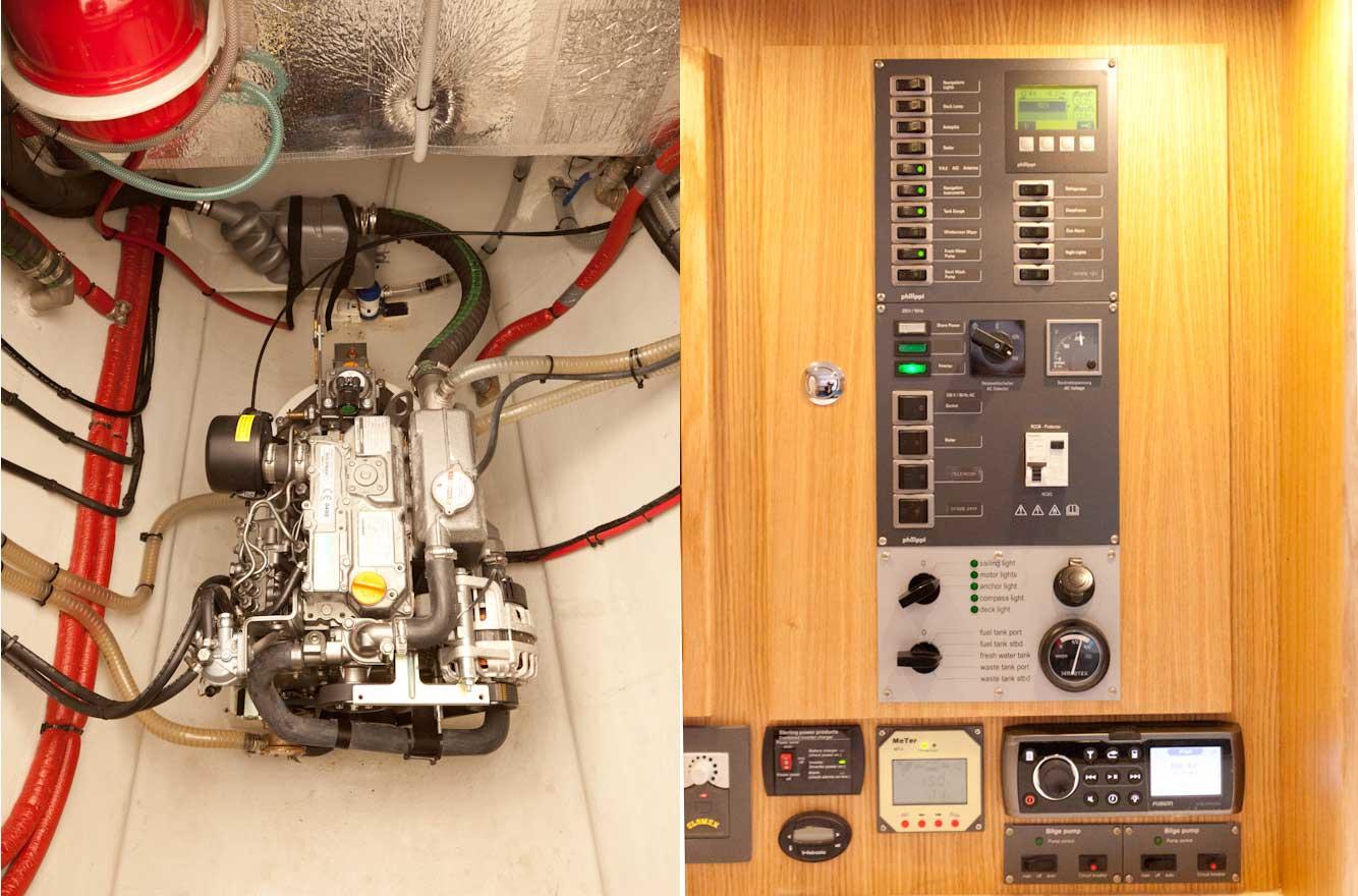 Broadblue Rapier 400 Motor und Schaltpanel