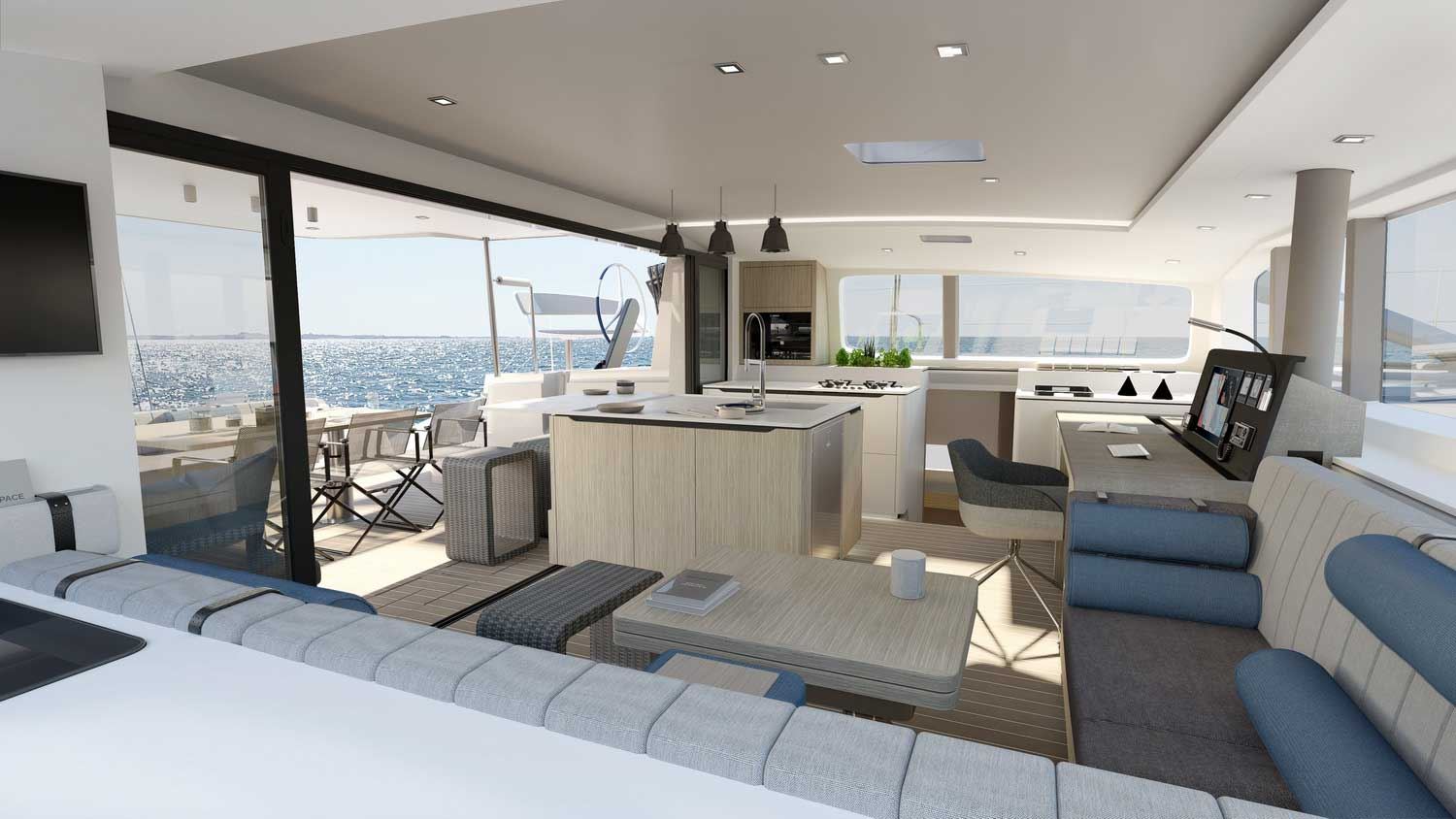 New Outremer 55 Performance-Catamaran pantry